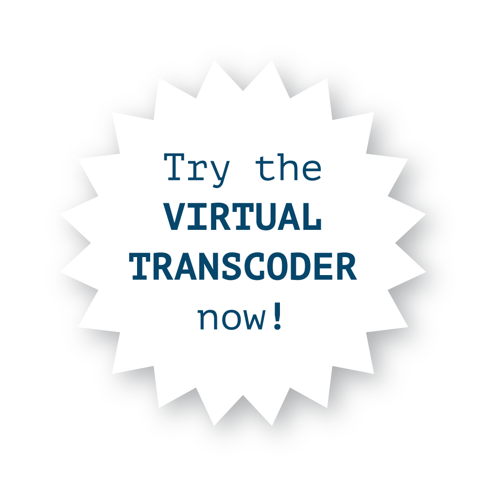 Try Sensaq's virtual transcoder